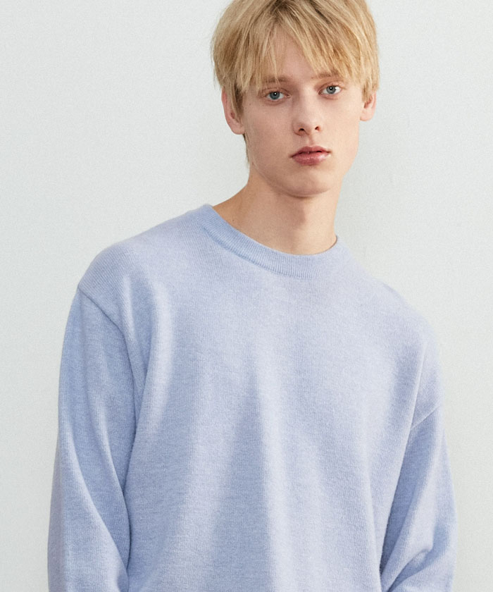 SOFT CASHMERE ROUNDNECK KNIT[PALE PURPLE]