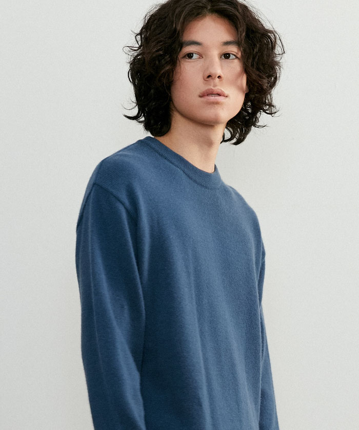 SOFT CASHMERE ROUNDNECK KNIT[ROYAL BLUE]
