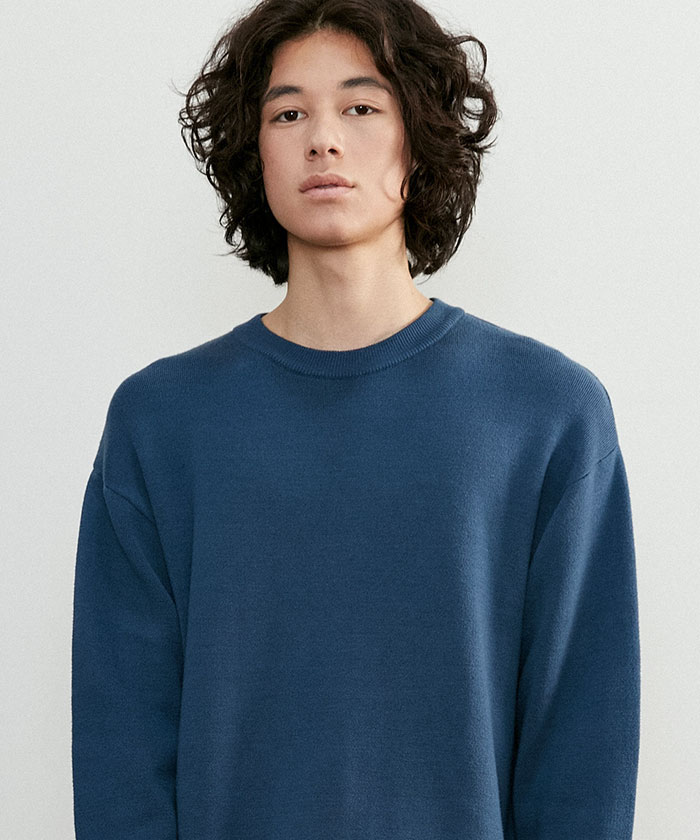SOFT COTTON ROUNDNECK KNIT[ROYAL BLUE]