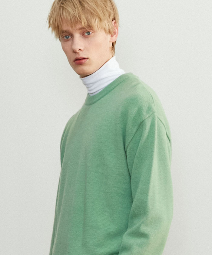 SOFT CASHMERE ROUNDNECK KNIT[PALE GREEN]
