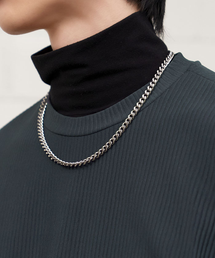 MINIMAL CHAIN NECKLACE[SILVER]