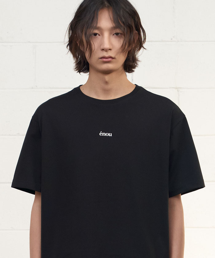 CENTER LOGO TSHIRT[BLACK]