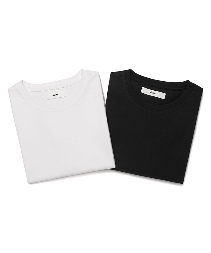 MINIMAL 2 PACK TSHIRT[BLACK/WHITE]