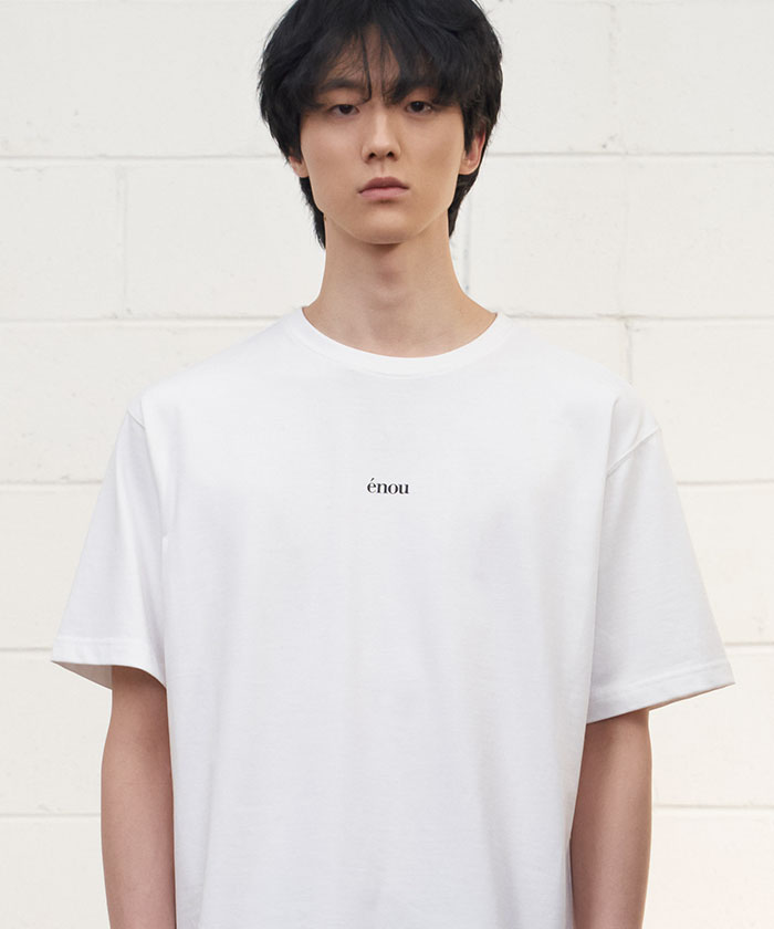 CENTER LOGO TSHIRT[WHITE]